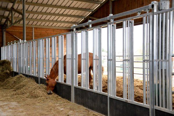 Façade de box élevage Feeding Wall galva