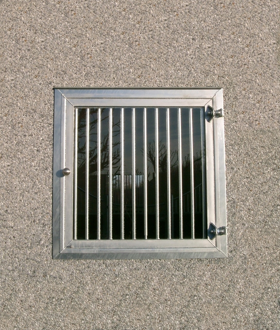 Fenêtre vitrée de box galva verre feuilleté