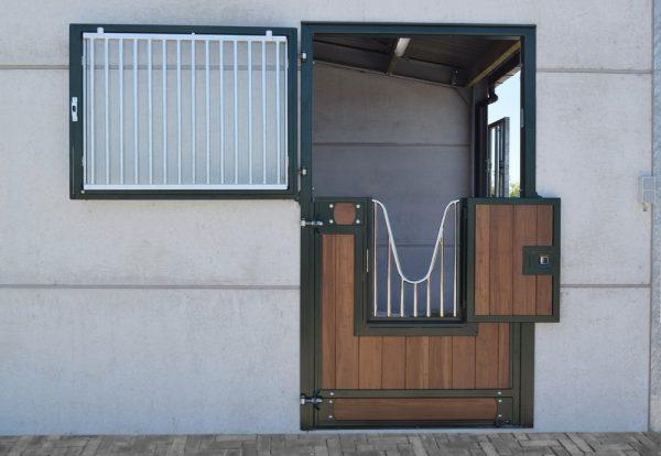 Porte de box battante vitrée bambou peinture